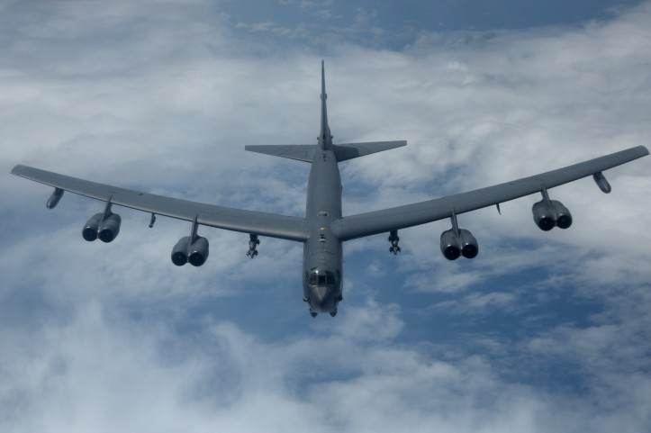 B-52H bombers train during CBP mission