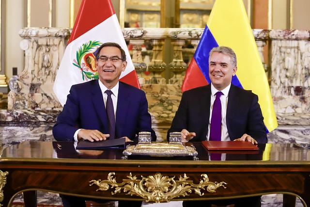 VISITA OFICIAL DEL PRESIDENTE DE COLOMBIA A PALACIO DE GOBIERNO