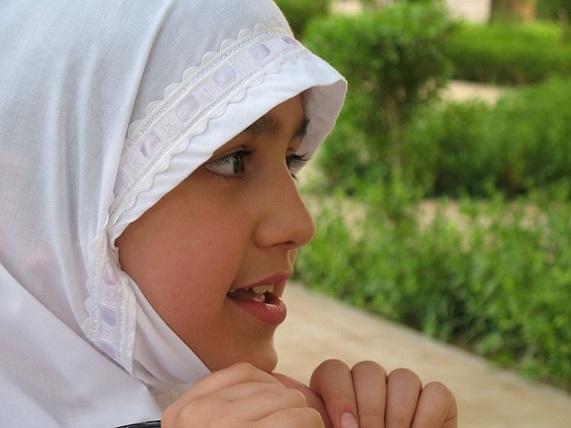 Muslim girl muslim pray, beauty fashion.