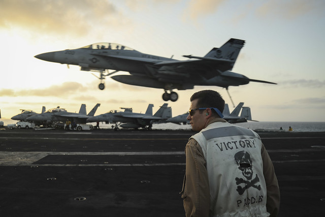 USS Abraham Lincoln (CVN 72) conducts flight operations.