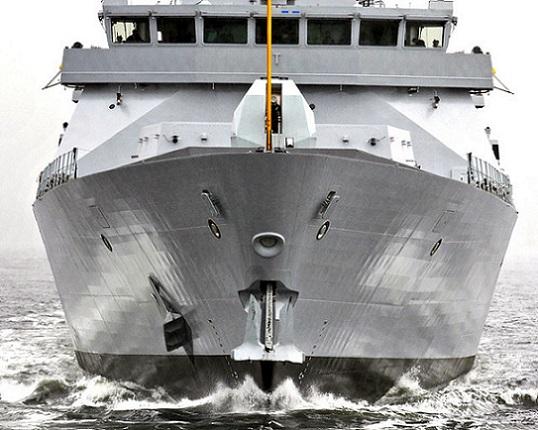 HMS DUNCAN STARTS SEA TRIALS