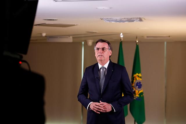 23/08/2019 Pronunciamento do Presidente da República, Jair Bols