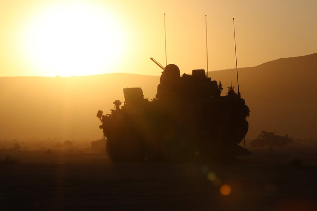 Lancer Stryker provides security at NTC