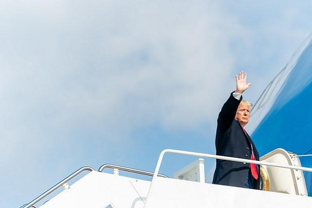 President Donald J. Trump arrives at Joint Base Andrews Air Force Base