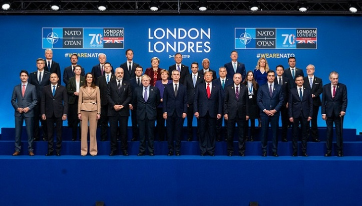 NATO Leaders Meeting, London - Family portrait with ceremony for the 70th anniversary